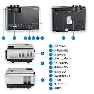 d8e4f0277e ベスト 小型プロジェクター 2500ルーメン LED ミニ ホームプロジェクター 無線 WiFi接続可 1080PフルHD iPhone/Android  ワイヤレス ミラーリング Airplay/Miracast機能 ...