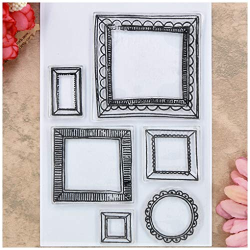 Kwan Crafts Frame Clear Stamps for Card Making Decoration and DIY Scrapbooking