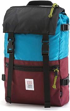 Topo Designs – Roverpack Aqua-Blau / Bordeaux: Amazon.es: Equipaje