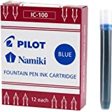 Pilot Namiki IC100 Fountain Pen Ink Cartridge Black 12 Cartridges per Pack 69100 Blue Pack of 12