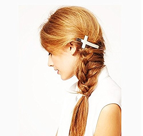Onairmall Fashion Classic Style Gold Plated Accessories Cross Hairpin Hair Cip Headband (Christmas Cip Art)
