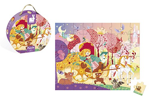 Janod Hat Box Puzzle - Princess and the Coach