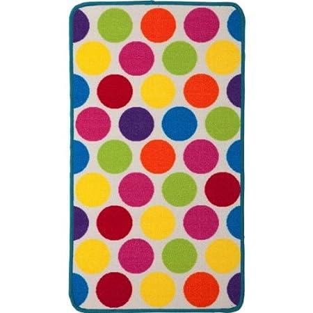 Essentialz Colour Match Kids Spot Rug With Cleva Rug Grip Tape