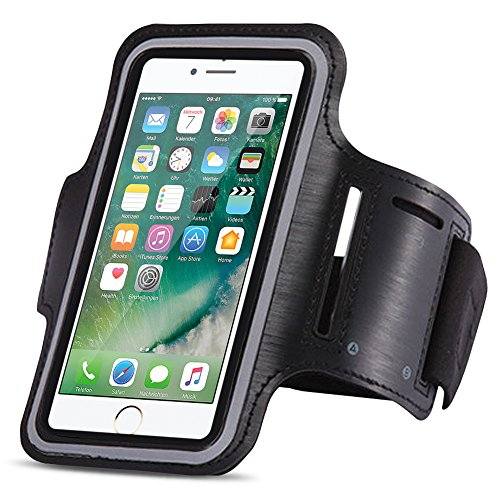 Jogging Tas compatibel met Apple iPhone Phone Case Sport Armband Fitness Bag Running Case, Kleuren: Zwart, Smartphone…