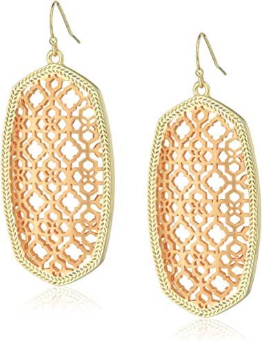 Kendra Scott Signature Danielle Filigree Earrings in Gold and Rose Gold Plated