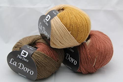 amazon com la doro ferner wolle, variegated yarn, fine lace  wolle blends c 2_15 #3
