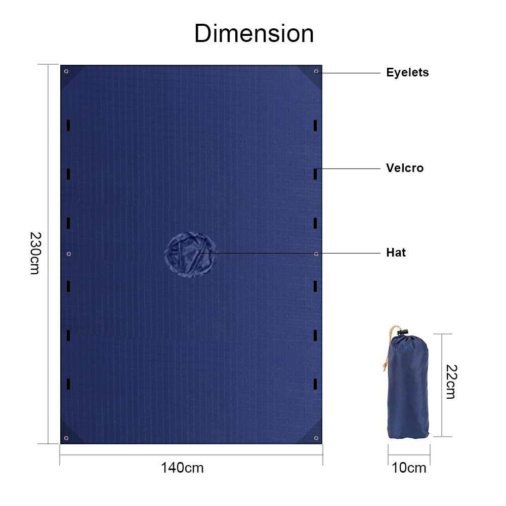 LAMA Multifunctional Raincoat Poncho 3 in 1 Reusable Waterproof Raincoat//Sunshade Tarp//Tent Ground Sheet Mat with Carry Pouch for Bike Hiking Camping Outdoor Activitie