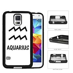 Aquarius Horoscope Sign Symbol Black and White Hard Rubber TPU Phone Case Cover Samsung Galaxy S5 I9600