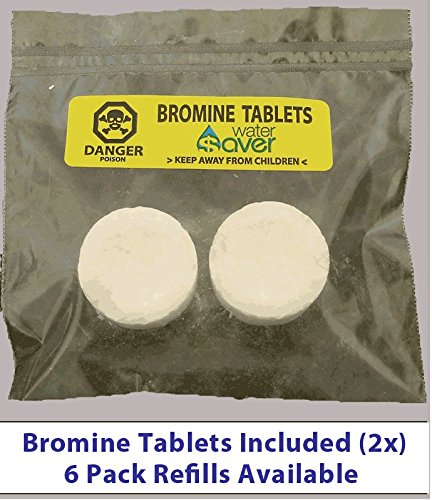 Flush n' Clean Toilet Bowl Cleaner Uses Standard Bromine Tablets - No Special Cartridges - Tablets Included - 4 Pack by Flush*Saver (Image #3)