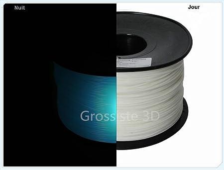 Filamento 3D fosforescente Azul ABS 1.75 mm inalámbrico 3D Printer ...