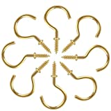 1-1/4 Inches Gold Brass Plated Ceiling Screw