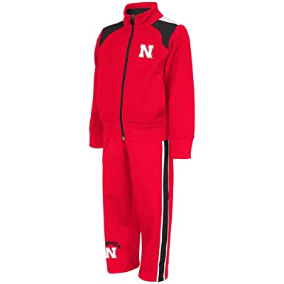 Toddlers NCAA Nebraska Cornhuskers Track Sweatshirt and Pants Combo Set (Team Color)
