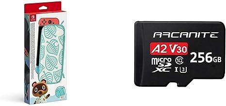 Funda y protector LCD para Nintendo Switch edición Animal Crossing: New Horizons (Nintendo Switch) + ARCANITE tarjeta memoria microSDXC 256 GB con adaptador SD, A2, UHS-I U3, V30, 4K, C10: Amazon.es: Videojuegos