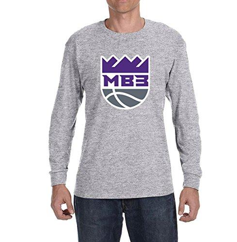 Peg Leg Fox (Peg Leg Shirts Gray Sacramento Bagley III Logo Long Sleeve Shirt Youth Large)