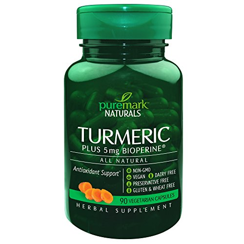 Puremark Turmeric Complex Plus Bioperine Vegetarian Capsules, 5 mg, 90 Count