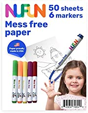NuFun Activities Mess Free Paper - Kids Create No Mess Wonders with Special Coloring Paper, Gift for Toddlers and Kids