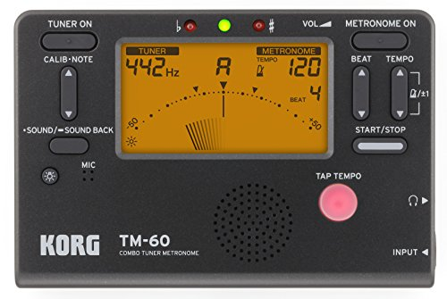 Top korg tm-60 tuner metronome black for 2019
