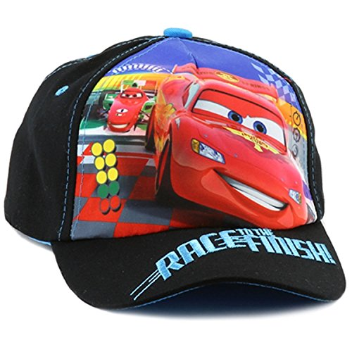 Disney Cars Lightning McQueen Little Boys Toddler Baseball Hat (Black)