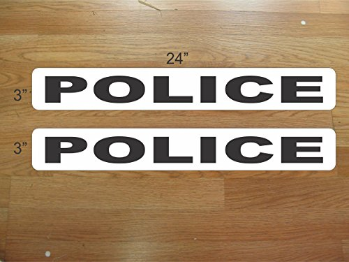 Magnetic Vinyl Car Sign - POLICE Magnetic signs to fit Car, Tow Truck, Van SUV US DOT Approved Size