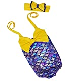 Little Girls 2pcs Swimmable Mermaid Princess Bikini