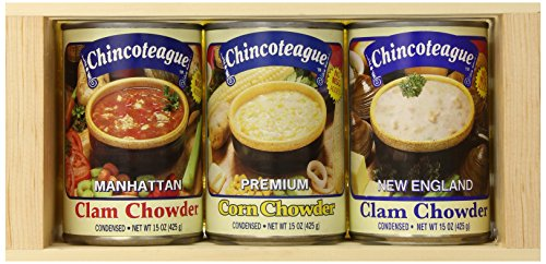 Chincoteague Seafood Chowder Sampler Crate, 4.5-Pound