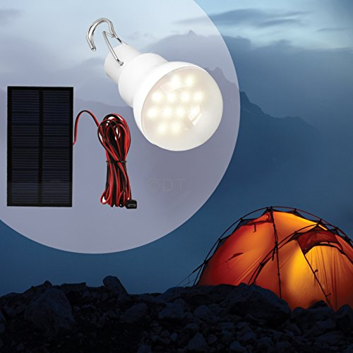 Portable Solar Panel Power LED Bulb Lamp Outdoor Camp Tent Fishing Light 15W (Trend Tools Power)