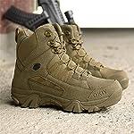 ailishabroy armée mâle Commando Combat désert en Hiver Bottes de randonnée en Plein air d'atterrissage Chaussures… 7