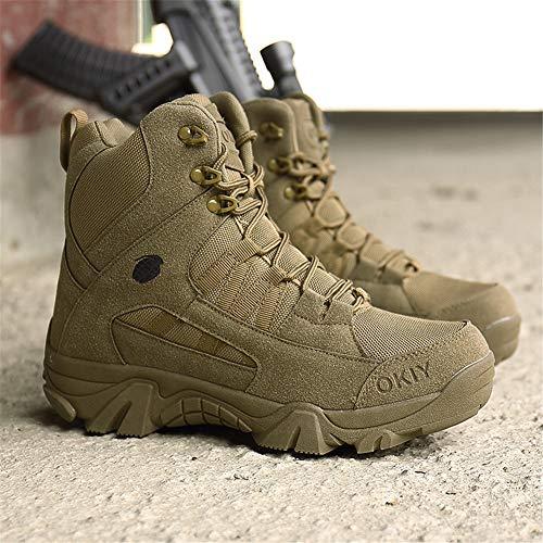 ailishabroy armée mâle Commando Combat désert en Hiver Bottes de randonnée en Plein air d'atterrissage Chaussures… 2