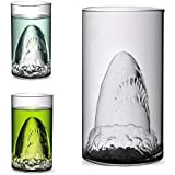 Creative Crystal Sharks Cup Handmade Transparent Personality Heat Resistant Double-layer Cocktail Beer Mug Cup Glass Wine Vodka Whiskey Drinking (Shark Glass)