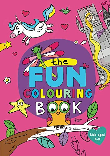 Book cover from The Fun Colouring Book: (for kids age 4-8) by Peta Lemon