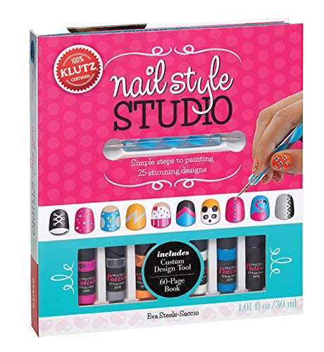 Klutz Nail Style Studio Book Kit (Easy Nail Art Step By Step Designs)
