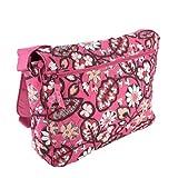 Vera Bradley Laptop Messenger Bag, Blush Pink