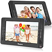 10.1 Dual Screen Portable DVD Player with 5-Hour Built-In Rechargeable Battery-Black (Dual DVD Players)