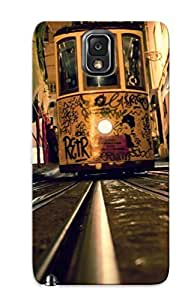 Ellent Design Tram On The Railroad Phone Case For Galaxy Note 3 Premium Tpu Case For Thanksgiving Day's Gift