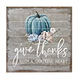 Sincere Surroundings Perfect Pallet 14″ x 14″ Wood Sign, Give Thanks with a Grateful Heart Review