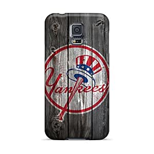 Bumper Hard Phone Case For Samsung Galaxy S5 (lUy20355Avcb) Custom Colorful New York Yankees Wooden Hd Skin