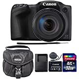 Canon PowerShot SX420 IS 20.0MP Digital Camera (Black) + 32GB Memory Card + Camera Case