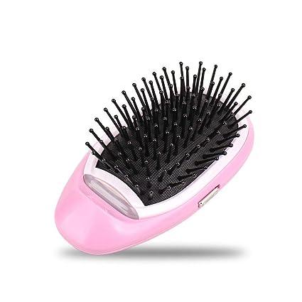 leegoal Mini Cepillo de Pelo iónico, portátil eléctrico Ionic Hairbrush peinadores Cuero cabelludo masajeador para