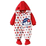 Baby Girls Boys Romper Newborn Thicken Snowsuit Fall/Winter Infant Jumpsuits Outfit Vine