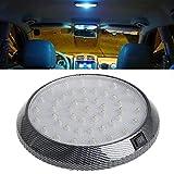 FidgetFidget LED White Car Roof Ceiling Dome Interior Light Round Lamp 1PC White 12V 46-