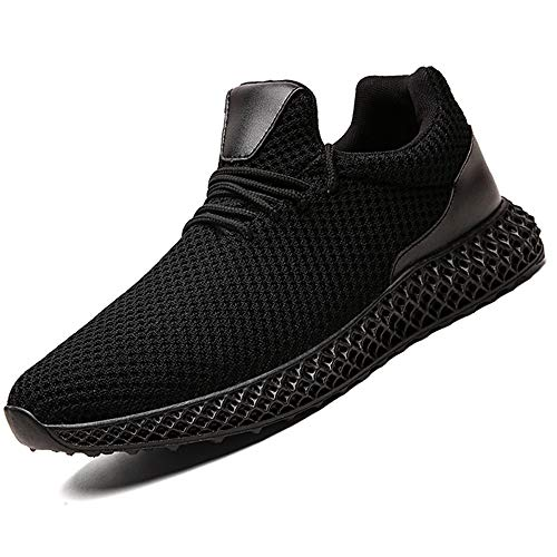 Aszeller Mens Running Shoes Non Slip Comfortable Sneakers Lightweight Breathable Walking Shoes Tennis Sport Casual Athletic for Men Workout Shoes,All/Black,US Women-11.5/ US Men-10