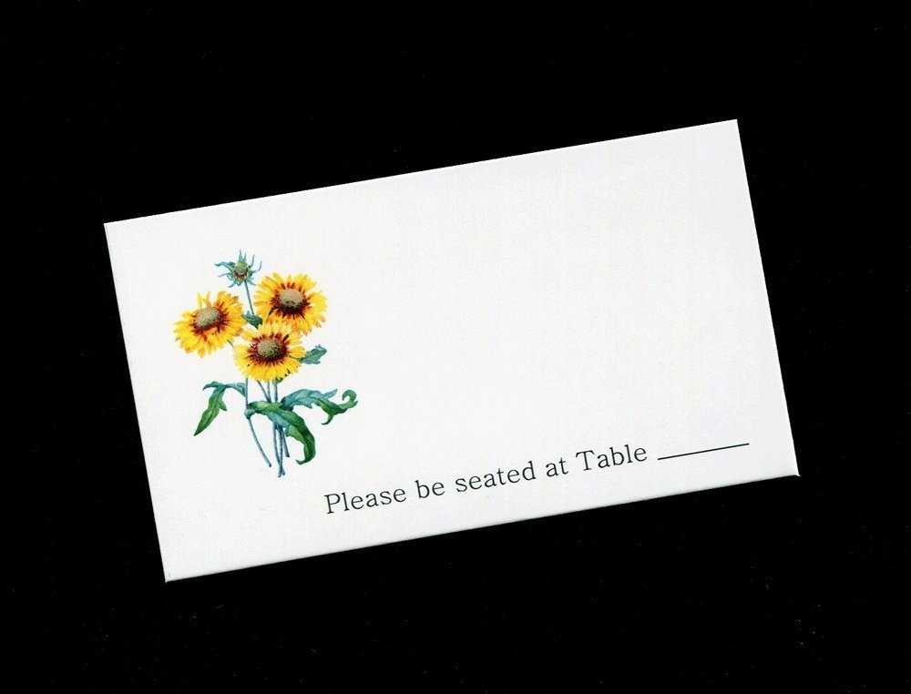 Place Card Sunflowers, (set of 25)