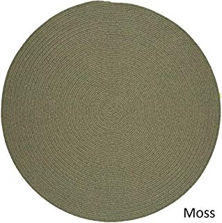 product image for Rhody Rug Woolux Wool Braided Rug - 8' Round Moss Green