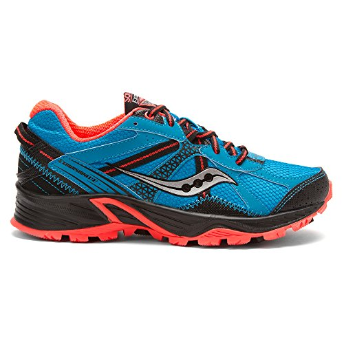 Saucony Donna GRID EXCURSION TR 7, Blu/Cor, Scarpa Trail, US 8.5