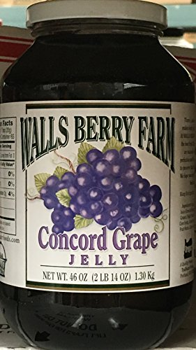 Walls Berry Farm Concord Grape Jelly 46 oz (Pack of 2)
