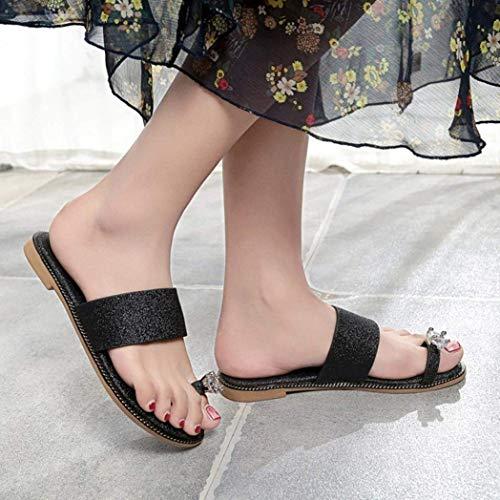 Qiusa 2 Bling coloré 4 7 Diamante Paillettes Mariage Or Uk Taille Chaussures Sliver Noir Tongs Personnalisé Sandale Toepost Brillant Femmes Plat Les Pour Summer TrTqxH8