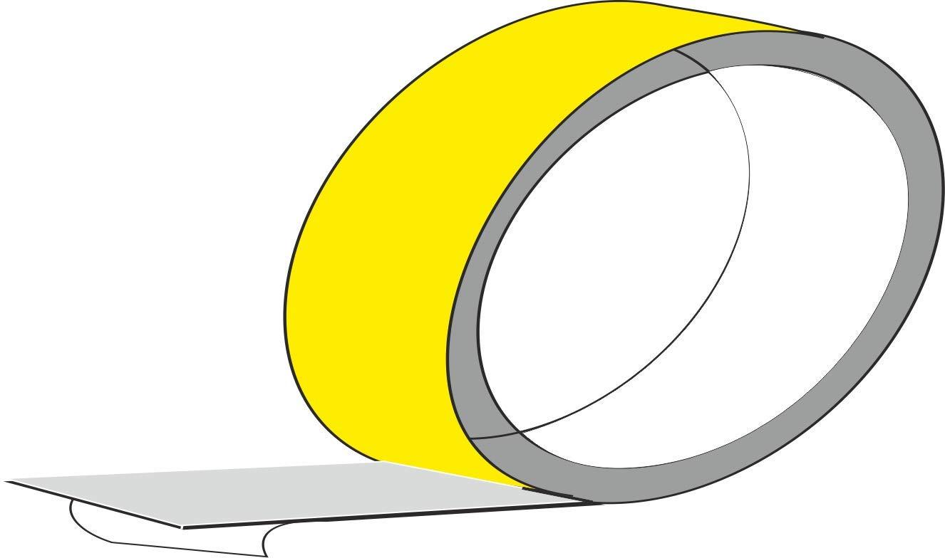 Quattroerre Refractive Adhesive Roll, Prismatic Yellow, 5 x 10 mt