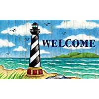 Hatteras Lighthouse Coastal Welcome Accent Rug Mat 30 X 18 Inches