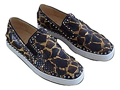 a85e706a2e54 Image Unavailable. Image not available for. Color  Christian Louboutin  Authentic Pik Boat Flat ...