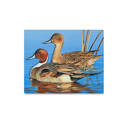 Canvas Print Best Friends/Sisters/Brothers Gifts Presents Cute Mallard Duck Pattern Modern Wall Art for Home Room Office Decoration (20x16 inch) ()